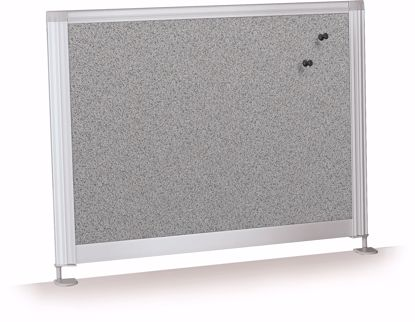 """Picture of Desktop Privacy Panel - 21.5"""" Pebbles Vinyl Lt Quarry"""
