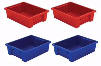Picture of Best-Rite Tubs - set of 4 (2 Red, 2 Blue)