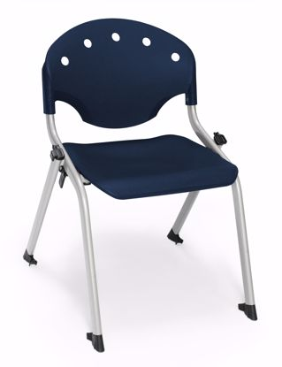 Picture of 4 PACK STUDENT CHAIR 46 - SILVER/BLUE