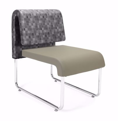 Picture of 2 PACK UNO GEOMETRICS CHAIR NICKEL -PU TAUPE