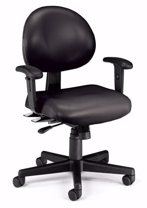Picture of 24/7 TASK CHAIR 2/ARMS-606-BLACK VINYL