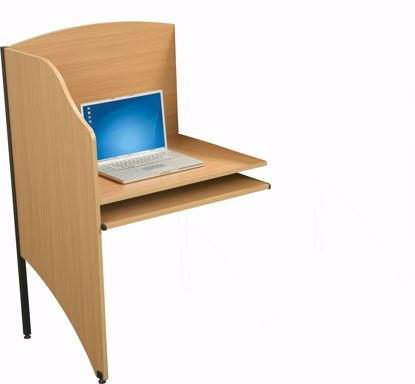 "Picture of DELUXE 3/4"" HPL ADD-A-CARREL (Teak)"