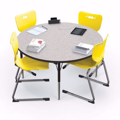 "Picture of Activity Table - 42"" Round - Amber Cherry Top Surface - Black Edgeband Addt'l Colors avail"