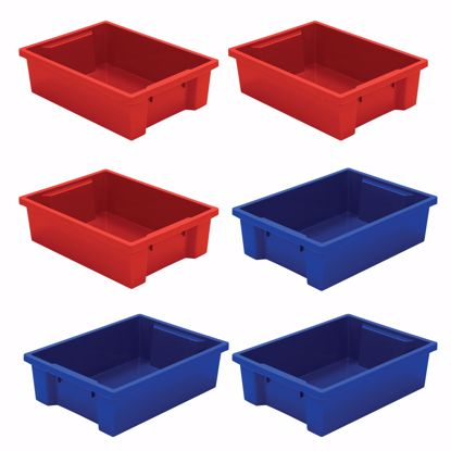 Picture of Best-Rite Tubs - set of 6 (3 Red, 3 Blue)