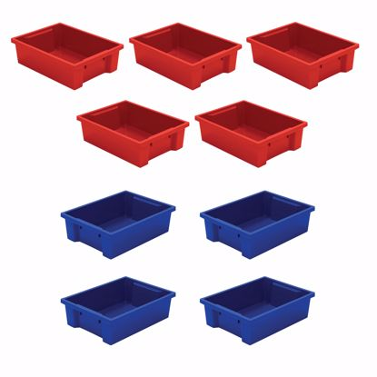 Picture of Best-Rite Tubs - set of 9 (mixed Red & Blue)
