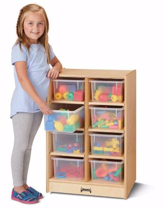 Picture of Jonti-Craft® 8 Cubbie-Tray Mobile Unit - with Clear Trays
