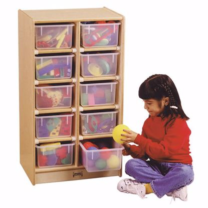 Picture of Jonti-Craft® 10 Cubbie-Tray Mobile Unit - with Colored Trays