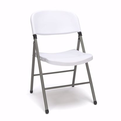 Picture of ESSENTIALS 4-Pk Plastic Folding Chair White
