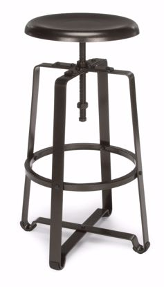 Picture of METAL STOOL- STOOL HT DARK VEIN SEAT & LEGS