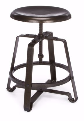 Picture of METAL STOOL- CHAIR HT DARK VEIN SEAT & LEGS