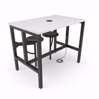 Picture of ENDURE 9004 TABLE W/2 DARKVEIN SEATS WHT TOP