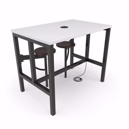 Picture of ENDURE 9004 TABLE W/2 WALNUT SEATS WHITE TOP