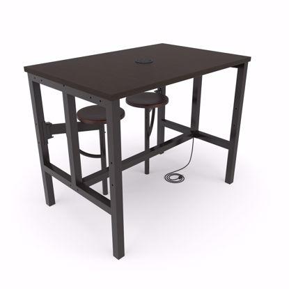 Picture of ENDURE 9004 TABLE W/2 WALNUT SEATS WALNUT TOP
