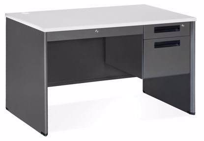 Picture of 30x48 Sgl Ped Desk w/CD Gry Fr Gr Nebula