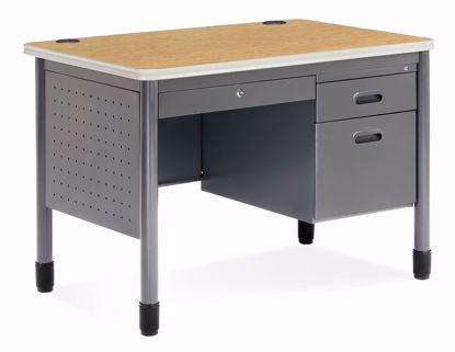 Picture of 25X42 Sales Desk w/CD/Gry Fr/Oak