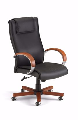 Picture of APEX EXECUTIVE HI-BACK LEATHER CHAIR