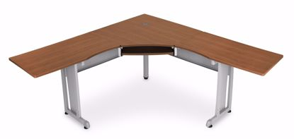 "Picture of WORKSTATION 72""X72"" SIDE 24"" - CHERRY"