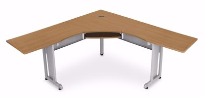 "Picture of WORKSTATION 72""X72"" SIDE 24"" - MAPLE"