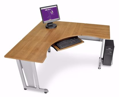 "Picture of WORKSTATION 60""X60"" SIDE 24"" - MAPLE"