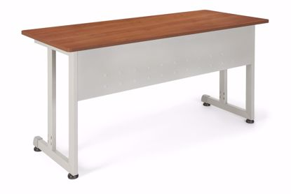 Picture of 24 X 55 TRAINING TABLE - CHERRY W/SILVER