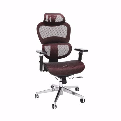 Picture of Ergo Mesh Chair with Headrest BURGUNDY
