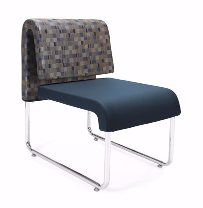 Picture of 2 PACK UNO GEOMETRICS CHAIR BLUEJAY - PU NAVY