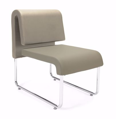 Picture of 2 PACK UNO RECEPTION CHAIR - PU TAUPE