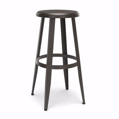 "Picture of Edge Metal Stool 30"" High Antique Brown"