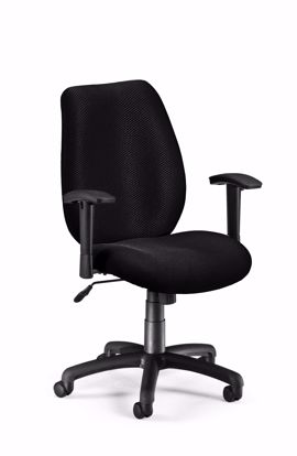 Picture of ERGO CONF/MAN CHAIR W/ADJ ARMS - EBONY