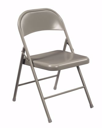Picture of Commercialine® All-Steel Folding Chair, Grey (Pack of 4)