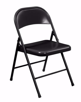 Picture of Commercialine® All-Steel Folding Chair, Black (Pack of 4)