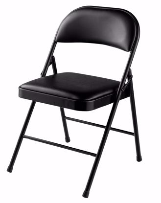 Picture of Commercialine® Vinyl Padded Steel Folding Chair, Black (Pack of 4)