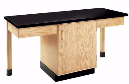 Picture of 2 STUDENT CUPBOARD TBL,PHENOLIC TOP