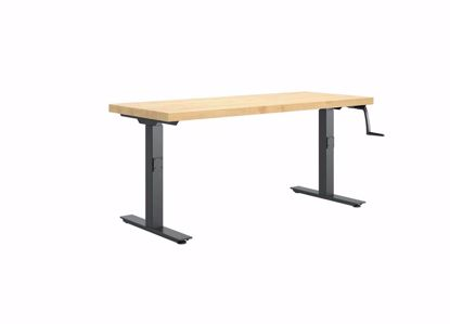 Picture of HI-LO BENCH - 60 X 24 MAPLE BUTCHER BLOCK